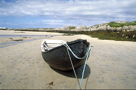 a beached curragh, Connemara