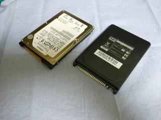 旧 HDD と SSD