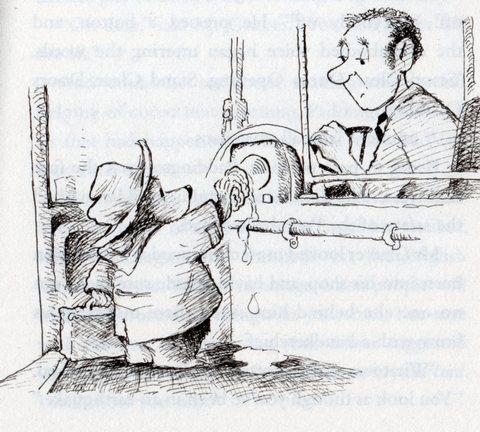 パディントン、本物のオイスターを押しつけるの図