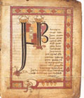 Illuminated ms. 'Stowe Missal', from A.D. 792-803
